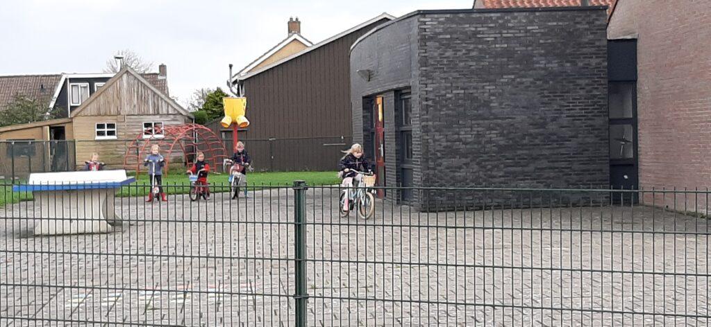Spelende kinderen bij basisschool de Noordster